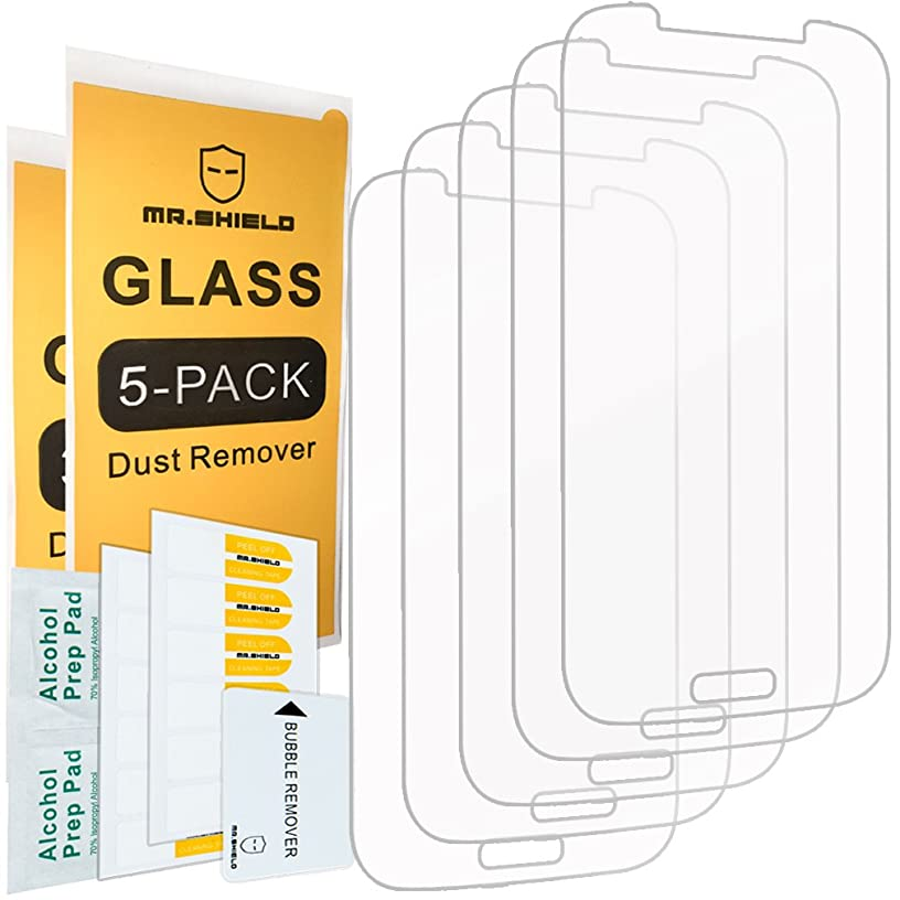 [5-PACK]- Mr.Shield For Samsung Galaxy S4 [Tempered Glass] Screen Protector [0.3mm Ultra Thin 9H Hardness 2.5D Round Edge] with Lifetime Replacement