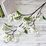 XINGXX Fleur Artificielle 95 Cm Cerisier Arbre Soie Fleurs Artificielles Grande Branche Pomme Faux Fleurs Faux Fleurs Maison MariageFleur Blanche