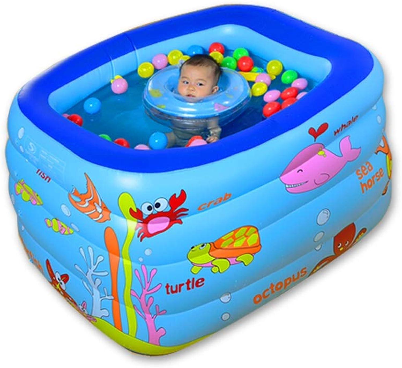 DSADDSD Aufblasbarer Baby-Swimmingpool umweltfreundliche tragbare Kinderbadewanne von PVC (gre   130cm85cm70cm)