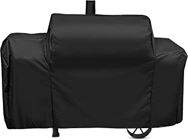 Unicook Heavy Duty Waterproof Grill Cover for Oklahoma Joe's Longhorn Combo Smoker, Outdoor Charcoal/Smoker/Gas Combo Grill C