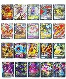 NJSYTS 100 Cartas Pokémon, colección de Cartas Pokémon (60VMAX + 40V), Divertida Tarjeta Flash, Cartas Pokémon V VMAX, Juego de Cartas de Rompecabezas