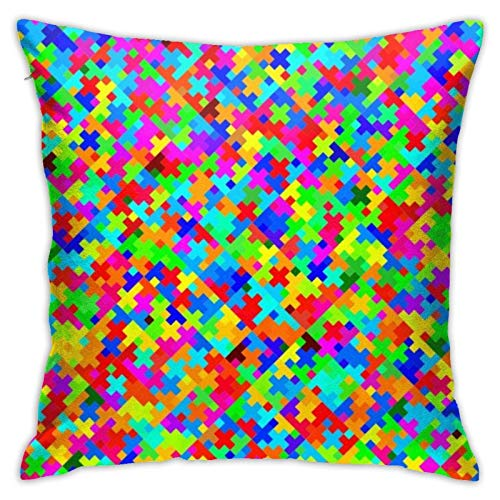 XCNGG Funda de Almohada Funda de cojín de Almohada para el hogar Ropa de Cama Throw Pillow Case, Colorful Pillow Cover, Decorative Pillowcase Square Cushion for Sofa Couch Car 18x18