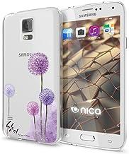 NALIA Funda Carcasa Compatible con Samsung Galaxy S5 S5 Neo, Motivo Design Movil Protectora Ultra-Fina Silicona Cubierta, Goma Estuche Bumper Ligera Cover Phone Case, Designs:Dandelion Pink Rosa