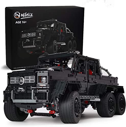 wholesale Nifeliz Black Pickup G63 6X6 MOC Building Blocks and Engineering Toy, Adult Collectible Model Cars Kits to Build, 1:8 Scale outlet online sale Truck sale Model (3300 Pieces) sale