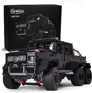 Nifeliz Black Pickup G63 6X6 MOC Building Blocks and...