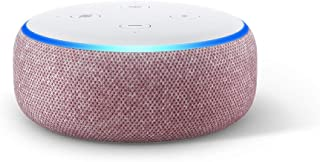 Echo Dot (3rd Gen) – Smart speaker with Alexa - Plum Fabric