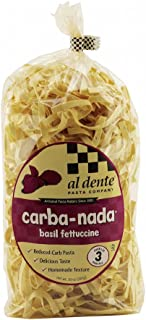 Al Dente Carba-Nada Low Carb Basil Fettuccine Pasta 10 Ounce Bag