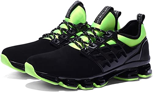 RENMEN Größe Größe Herrenschuhe Sommer Mode Klinge Schuhe Student Sport Casual Laufschuhe 38-44, Grün