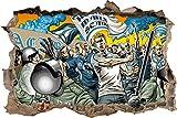Hooligans Chemnitz, 3D Wandsticker Format: 62x42cm,