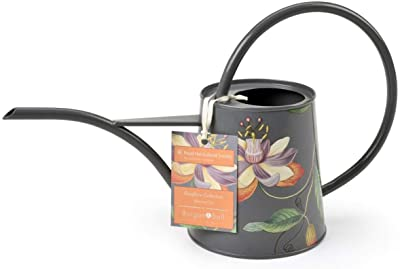 Burgon & Ball Indoor Watering Can 38Floz Lightweight in Passiflora Design | Long Reach Spout in Passion Flowers