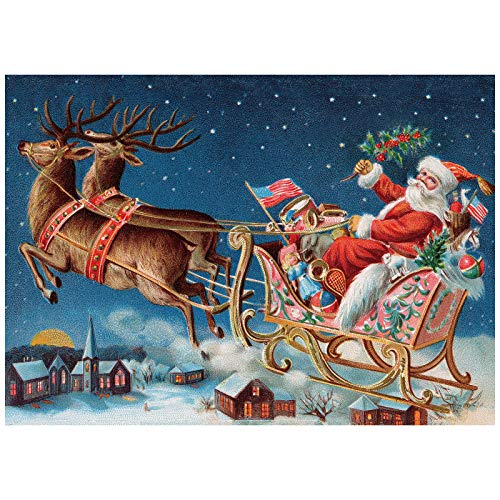 Christmas Jigsaw Puzzles 1000 Pieces for Adult, Santa Claus, Hard Difficult Jigsaw Puzzles Set, Best Jigsaw Puzzles Game (30x20 inch)