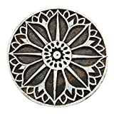 ibaexports Floral Indian Wood Stamps Art Textile Printing Block Decorative Handcarved Stamp