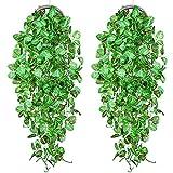 YQing 2 Piezas Artificial Hiedra Planta Colgante, Artificiales Verde Hojas de Hiedra...