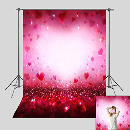 Modern 10x12 FT Backdrop Photographers,Contemporary Image Heart Like Leaves Swirls Veins Inner Artwork Print Background for Child Baby Shower Photo Vinyl Studio Prop Photobooth Photoshoot