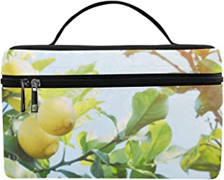 Yellow Lemons On Lemon Tree Pattern Lunch Box Tote Bag Lunch Holder Insulated Lunch Cooler Bag For Women/men/picnic/boating/beach/fishing/school/work