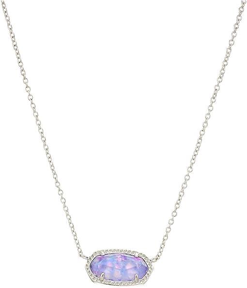 Rhodium/Iridescent Lilac Illusion