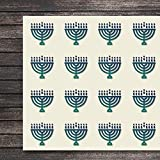Hanukkah Menorah Shape Jewish Line Menorah Craft Stickers, 30 Stickers at 1.5 Inches, Great Shapes for Scrapbook, Party, Seals, DIY Projects, Item 156038