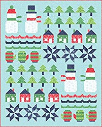 Snow Day Snowman Sampler Quilt, pattern by Stacy lest Hsu, fabric by Moda