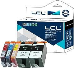 LCL Cartucho de Tinta Compatible 920XL (2Negro 1Cian 1Magenta 1Amarillo) Reemplazo para HP Officejet 6000 6500 6500 Wireless 6500A 7000 7500 7500A