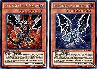 Yu-Gi-Oh Bonds Beyond Time Movie Promo Red-Eyes vs. Blue-Eyes Secret Rare YMP1-EN001 & YMP1-EN002 (Konami)