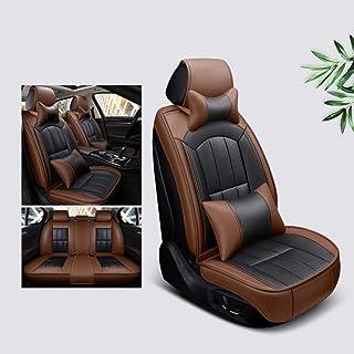 Lyfsxjzqr Automóvil Protector Cojín Interior automóvil cojin Asiento Coche Accesorios Asiento del Asiento Cubiertas del cojín del Asiento Respaldo Almohadilla Respaldo Transpirable (Color : Brown)