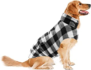 ASENKU Dog Winter Coat, Dog Fleece Jacket Plaid Reversible Dog Vest Waterproof Windproof Cold Weather Dog Clothes Pet Apparel for Small Medium Large Dogs