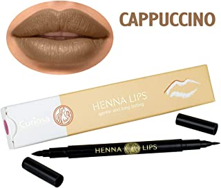 Natural Lip Stain, Henna Lips Lip Liner (Cappuccino)
