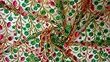Generic Indischer Stoff Blumenstoff Mesh Bestickt Kleid