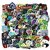 Cartoon Stickers - CNCK 100PCS Rick and Mor_ty Sticker Vinyl Stickers Waterproof for Hydroflash Water Bottle Travel Case Computer Wall Skateboard