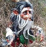YQRDSHJS Gartenfee Ornamente Garden Big Goblin Garden Leprechaun Character Sculpture Decor Harz Handgefertigt Garden Kleine Kobolde Harzstatue Deko Gartenzwerge Geschenke für Kinder