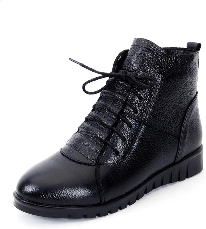 Zarbrina Womens Flat Platform Short Plush Ankle Boots Fashion Round Toe Rubber Sole Fur Lined Zipper Up Buckle Strap Winter Warm Snow shoes