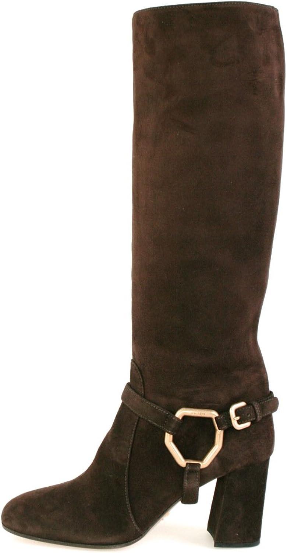 Prada 1W415d Leder Damen Stiefel