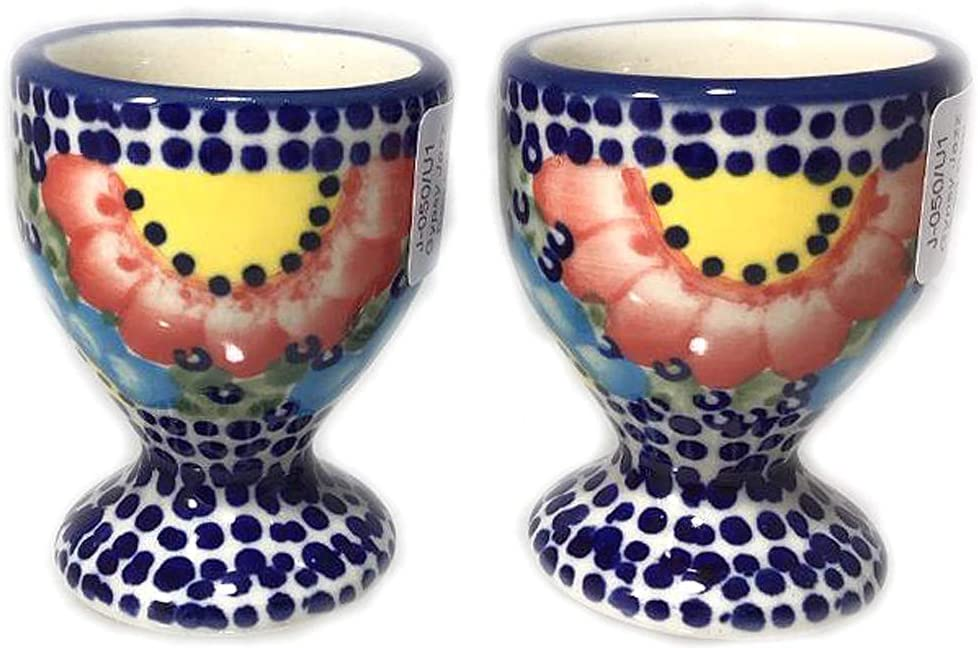 Weekly update Set of 2 Polish Pottery Egg Popular standard Cups J Gypsy U1 in Unikat Pattern or