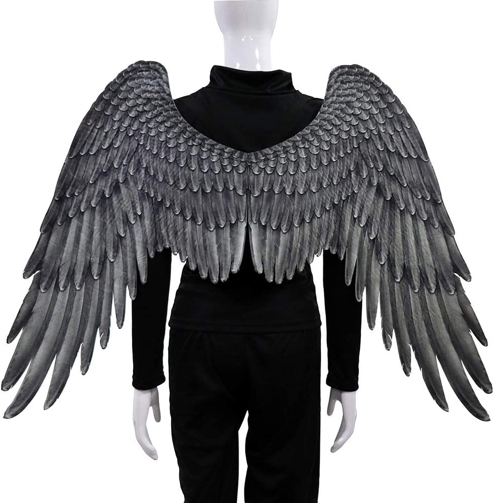 MG.QING Halloween Decoration A surprise price is realized Adult Angel Ela Wing with White Max 75% OFF in