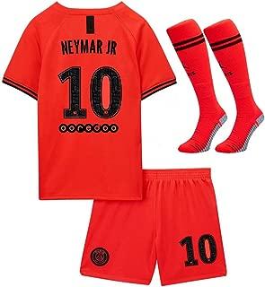 Yuudfon Paris Saint Germain X 2019-2020 New Season 10 Neymar Away Kids/Youths Soccer Jersey & Shorts & Socks (6-13Years)