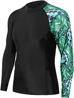 Mens UPF50+ Rash Guard Tee Shirt Quick Dry Swimwear Athletic Tops