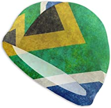 Amesage Customized National Flag of The Republic of South Africa Swimming Cap Lady Swimming Cap, Personality Adult Teenager Girl Polyester Swimming Cap