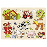 Goki 57995 - Steckpuzzle - Bauernhof VI