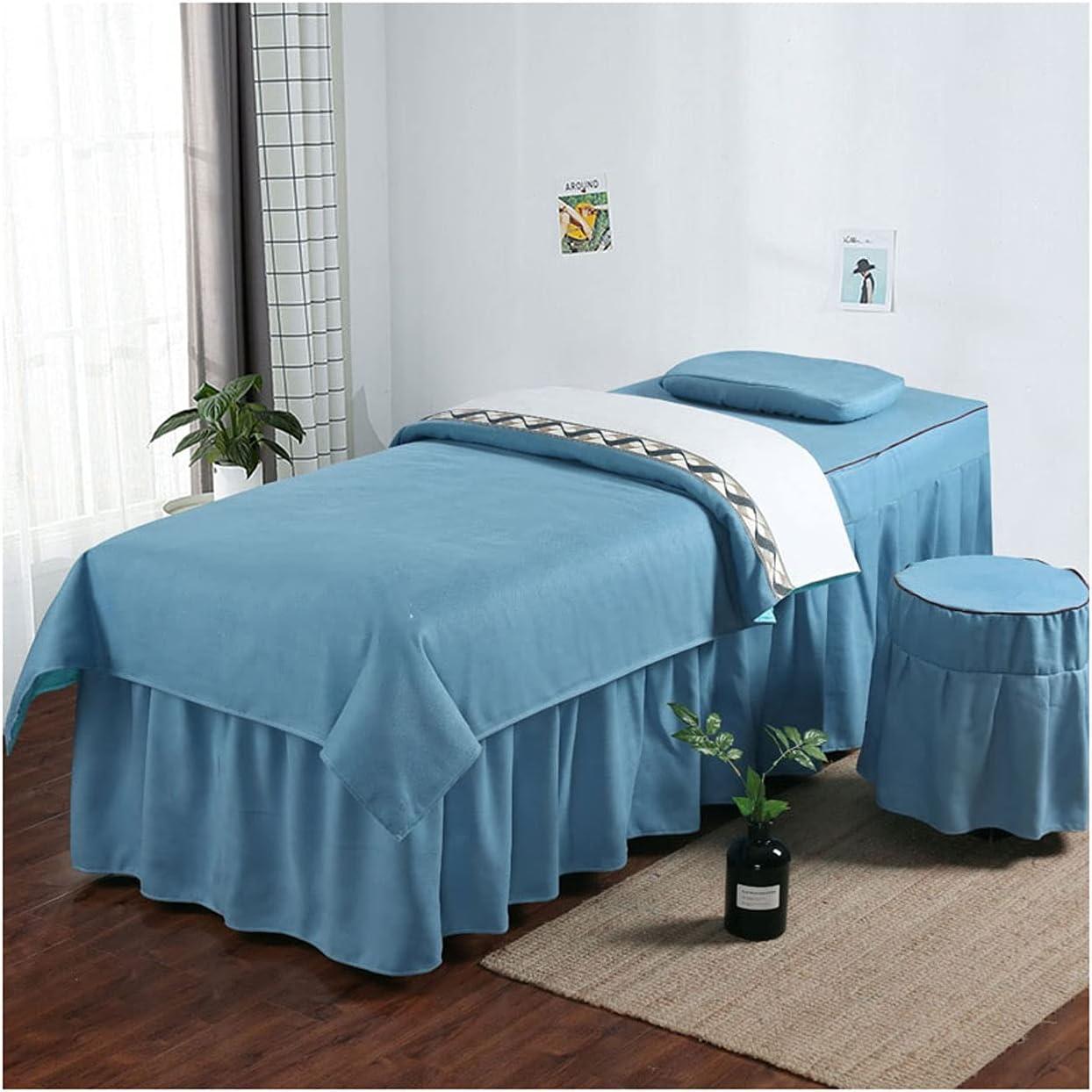 WANGLX Popular brand 4-Piece Massage Table Sheet New sales Set Skirt Four-P