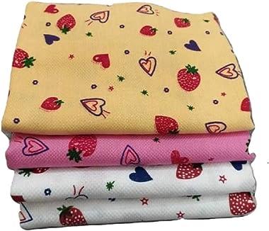 """Khadi Cotton bath towels Cotton Berry Printed Bath Towel - 4 no.s (60""""x 30"""" inches/150"""" x 75"""" cm) Large Size"""