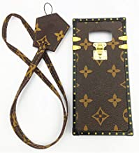 jiehao Samsung Galaxy S8 Plus S8+Case, Vintage Elegant Luxury Designer Monogram PU Leather Back with Lanyard Soft Bumper Shock Trunk Case Cover Protective Phone Case for Samsung S8 Plus 6.2