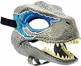 TIANLE Halloween Mask Gift Carnaval Gift Raptor Mask Child Blue Dinosaurus Accessoires