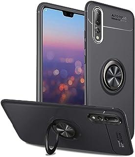 SORAKA funda Huawei P20 Pro,Caja giratoria del soporte TPU del anillo de 360 grados y Imanes de coche