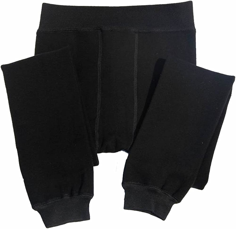 Jsix Men's Free Size Fleece Lined Mid-Weight Bottom Think Thermal Pant Underwear