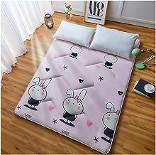 Futon Tatami Mattress,Student Dormitory Folding Mattress,Portable Thicken Pad Tatami Floor mat,Single/Double Mattress,Pink
