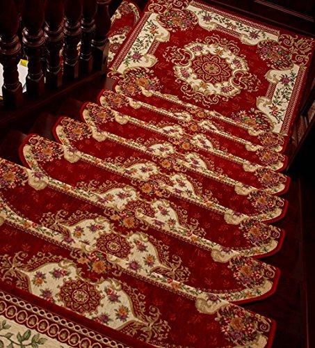 Scale Tappetino Pad 5 Pezzi ,Stair Tappetini Stuoie Antiscivolo Autoadesivo Colla Continentale Gratuita Scala Mat ( Colore : C , dimensioni : 80*24cm/5 )