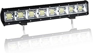 18 inch 384W Fila cuádruple 10D LED luz de trabajo Barra Flood Beam DC 12V-24V vehículos todoterreno 4x4 Atvs Utvs SUV Barco
