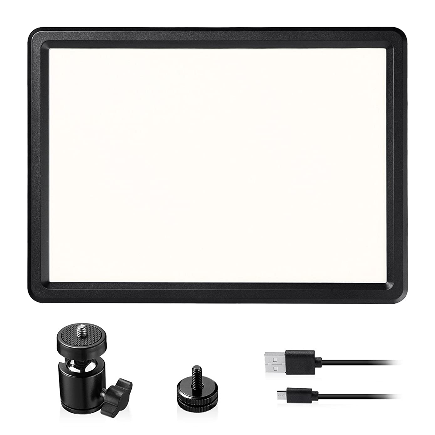 LED Video Light, Powerextra Bi-Color 10000mAh Power Pack 18W CRI95 Dimmable Video Lamp Panel Kits, 3200-6500K for Canon, Nikon, Panasonic, Samsung, Olympus and Other Digital DSLR Cameras
