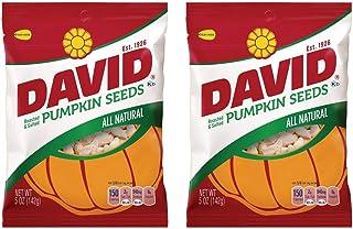David Pumpkin Seeds, Roasted and Salted, 5 oz bag, (2 pack)