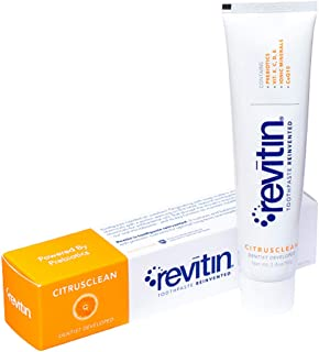 Revitin Natural Prebiotic Oral Care Toothpaste - 3.4oz - 1 tube 1 pack
